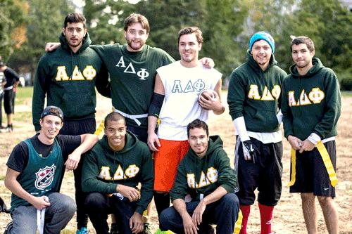 Alpha Delta Phi on the football field